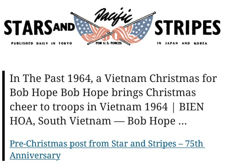 Pre-Christmas post from Star and Stripes – 75th Anniversary