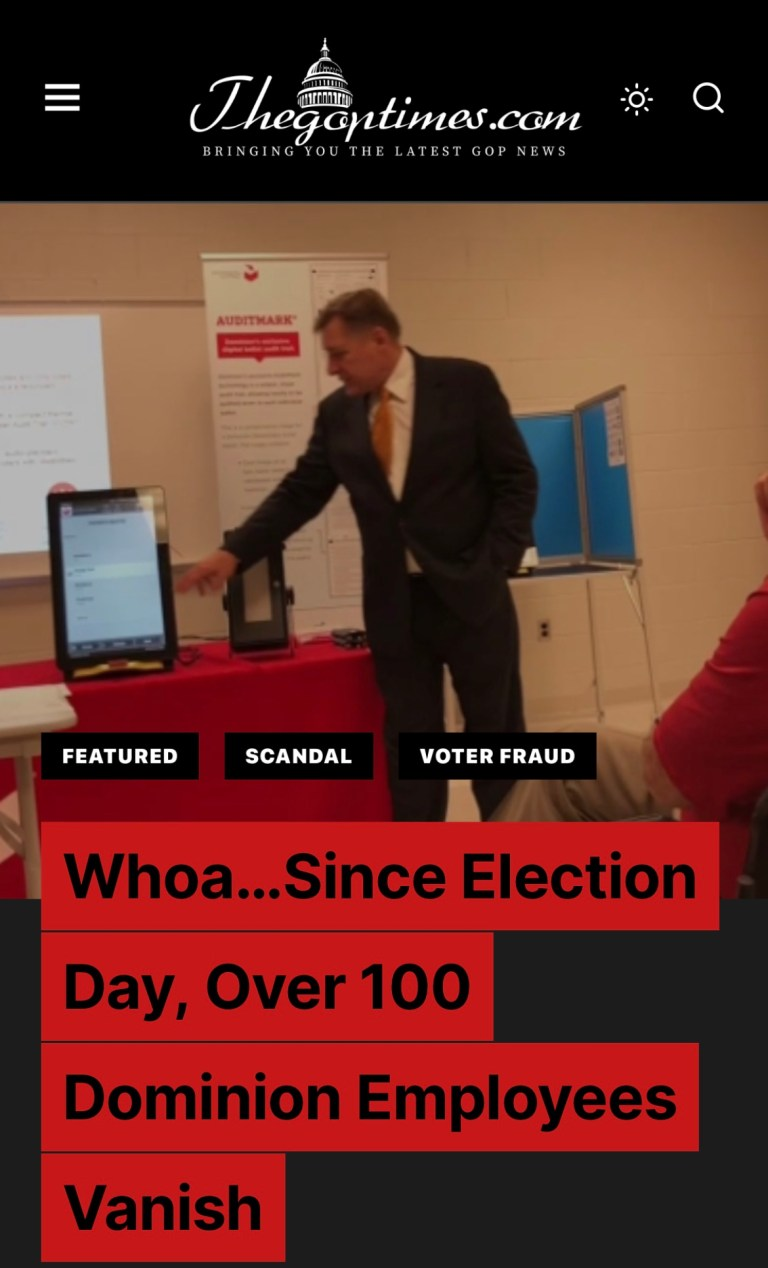 Whoa…Since Election Day, Over 100 Dominion Employees Vanish