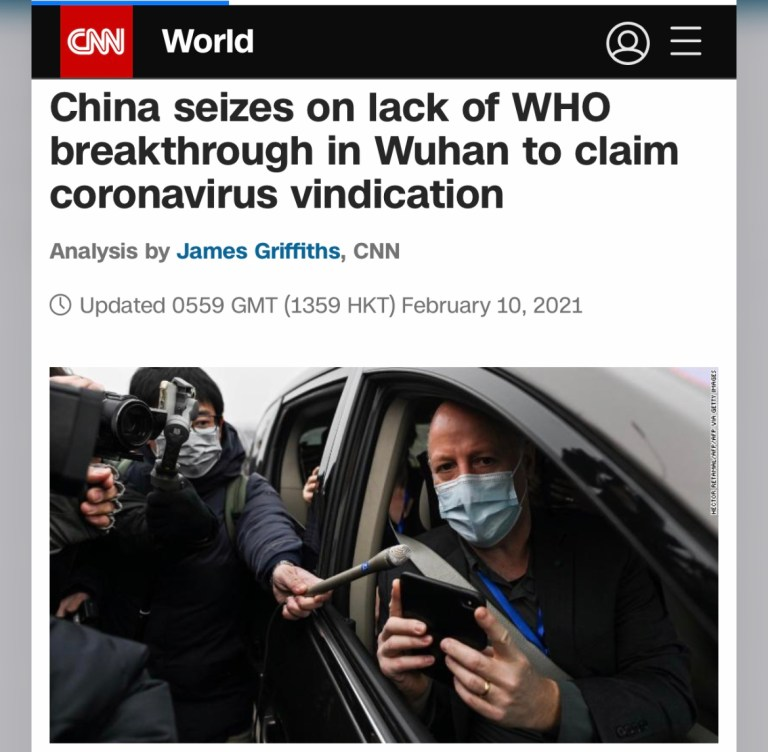 China's Propagandist, The World Health Organization, Provides Cover For The Chinese Communist Party.