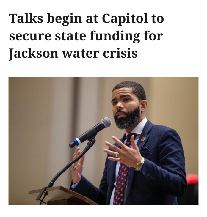 Talks begin at Capitol to secure state funding for Jackson water crisis