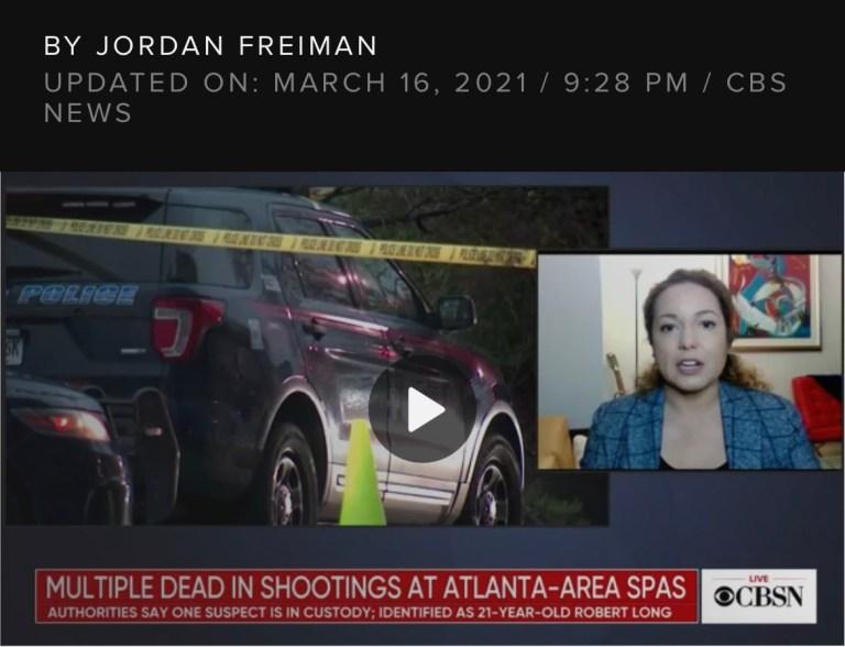 At least 8 killed in shootings at 3 Atlanta area spas, suspect in custody.