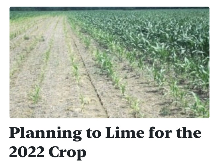 Planning to Lime for the 2022 Crop