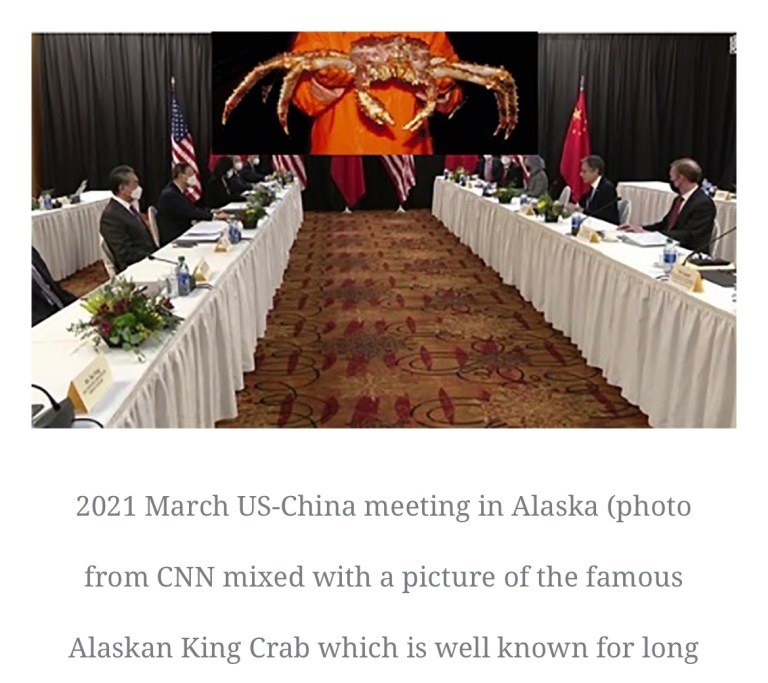 'Don't over-extend your Alaskan King Crab legs', China tells the U.S.