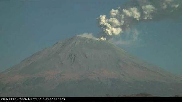 Captura de pantalla de la cámara web Tochimilco 7 de marzo de 2013 (Crédito: Tolchimilco / CENAPRED)