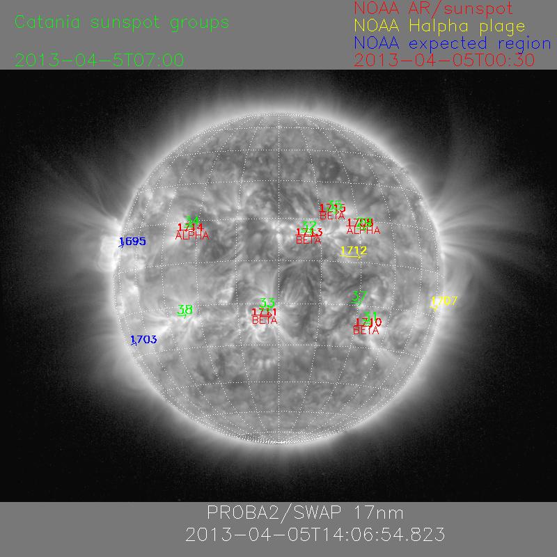 Combimap - Las manchas solares - 05 de abril 2013