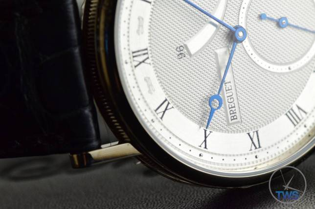 Breguet Classique 5277- Unboxing Review [5277bb-12-9v6] Watch on side in low light with dial illuminated