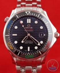 Omega Rio 2016 Olympic Limited Edition Seamaster Diver 300m: Hands On Review [522.30.41.20.01.001] - Black ceramic bezel with olympic ring colours