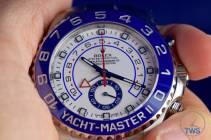 Watch held between fingers - Rolex Yachtmaster II- Hands-On Review [116680]