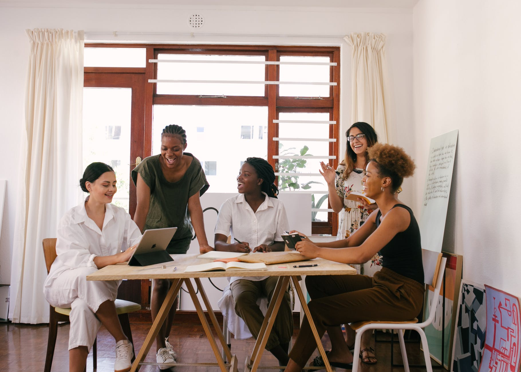group of women having a meeting