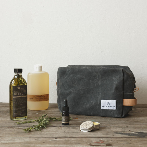 waxed canvas dopp kit future kept