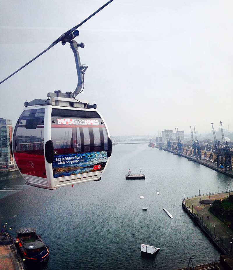 london emirates cable car view thames