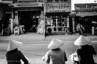 Women in the market of Cu Jut. Vietnam, March 2014.