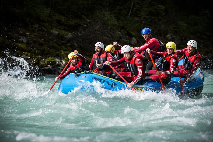 Rafting on Imster Schlucht, Inn, Area 47, photo by Jens Klatt