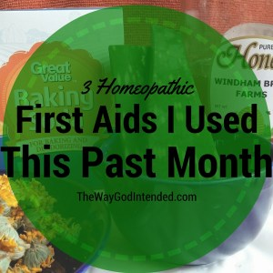 3 Homeopathic First Aids
