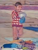 Boy & Pot - Helena Anderson