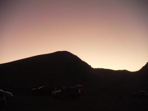 Sand dune sunset in Valle de la Luna, Atacama