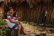 Mayan family near Tulum.