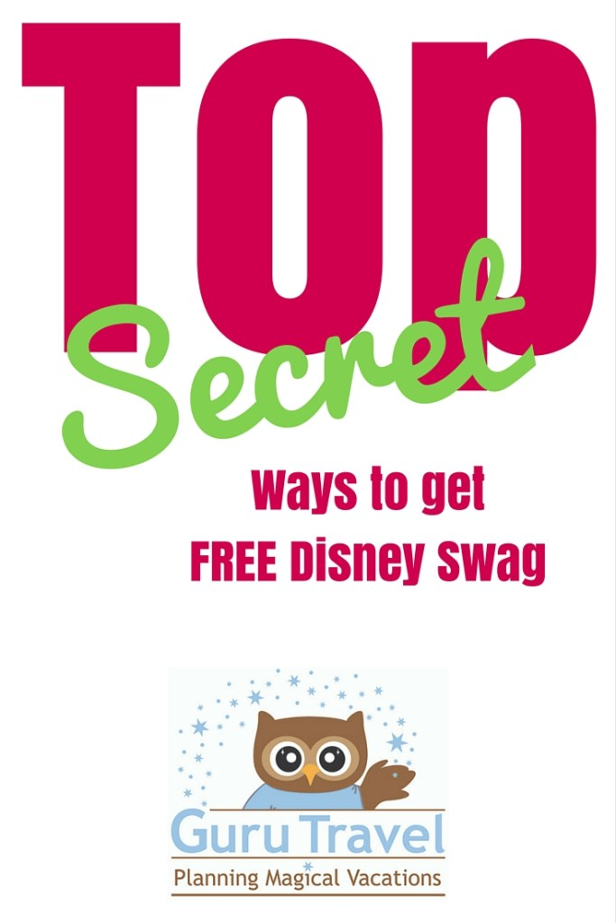 Top Secret Ways to Get FREE Disney Swag
