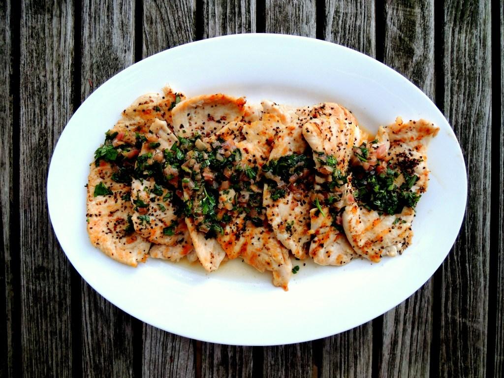 Chicken, sauteed chicken cutlets with tarragon 1