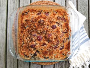 Desserts, fruit, baked, cherry coconut brown betty 1