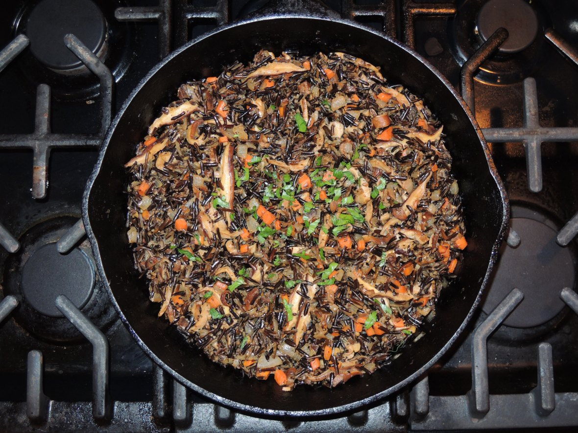 Rice, wild rice with mushrooms 1