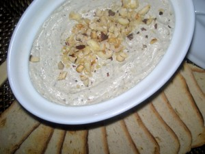 Appetizers, dips and spreads, Stilton and hazelnut spread with melba toasts 1