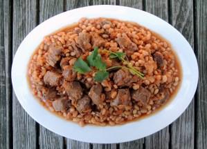 Lamb, stews, Lebanese lamb stew with beans 1
