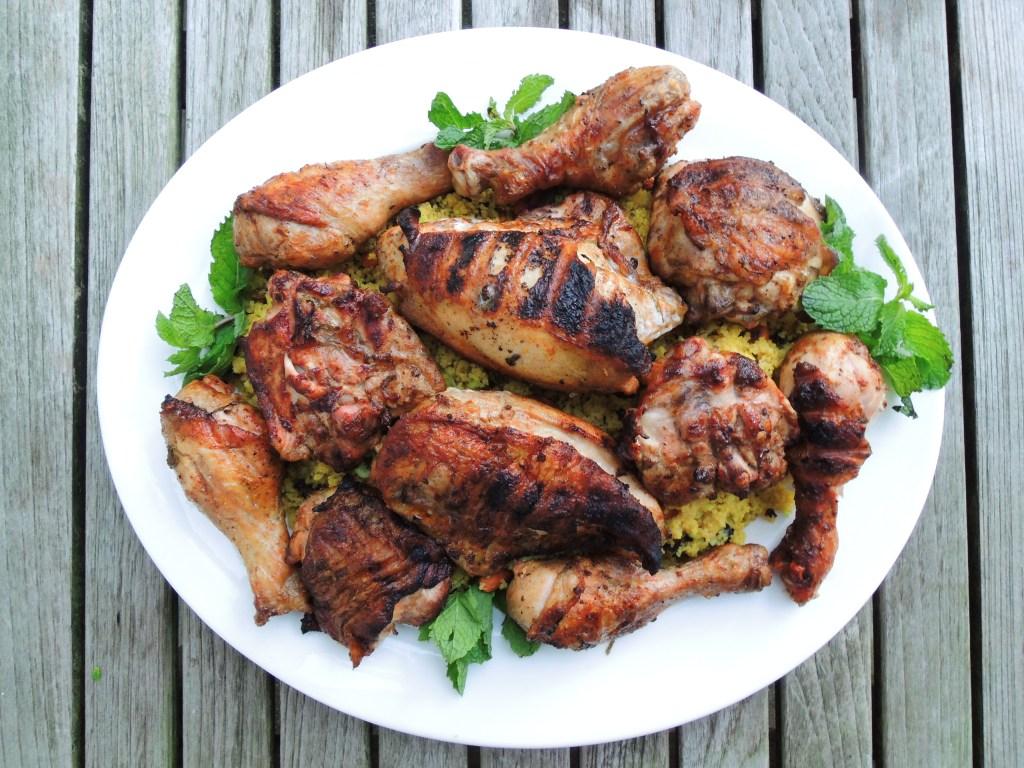 Chicken, grilled, Moroccan grilled chicken with harissa 1