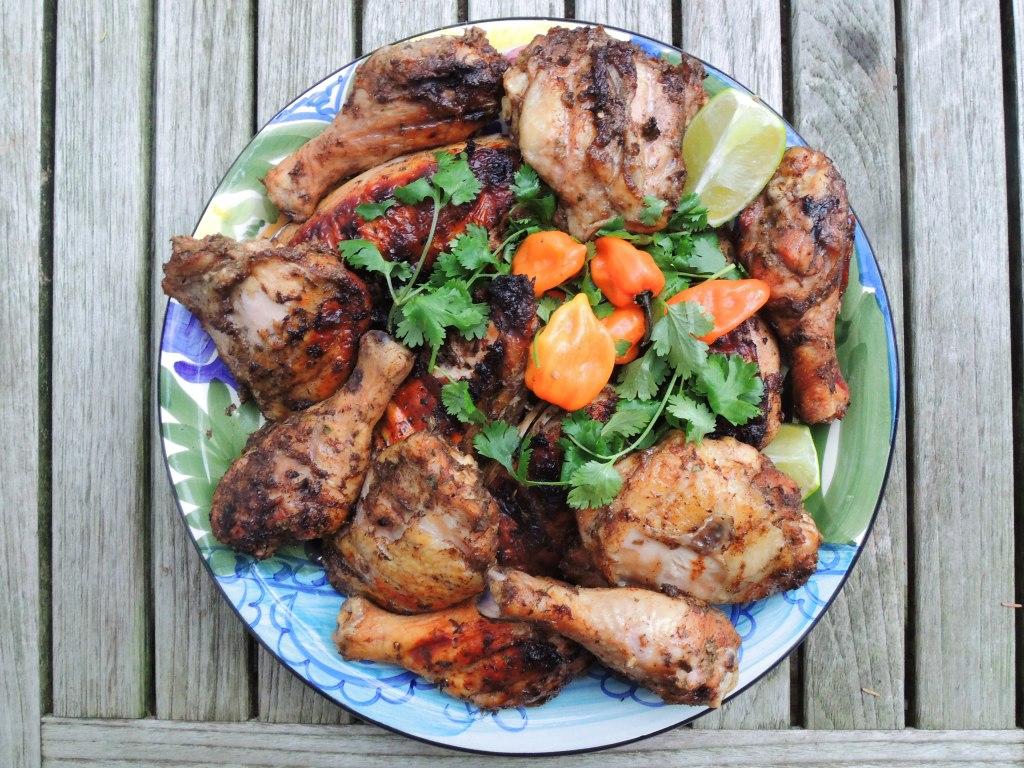 Chicken, grilled, with Jamaican jerk marinade 1