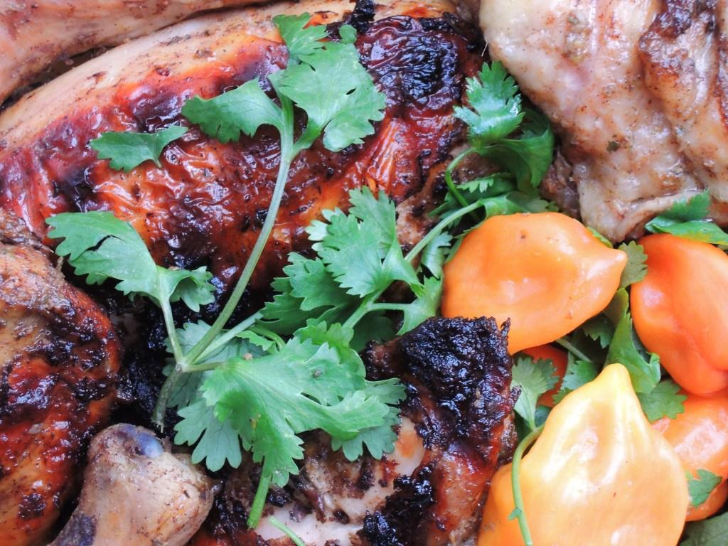 Chicken, grilled, with Jamaican jerk marinade 2