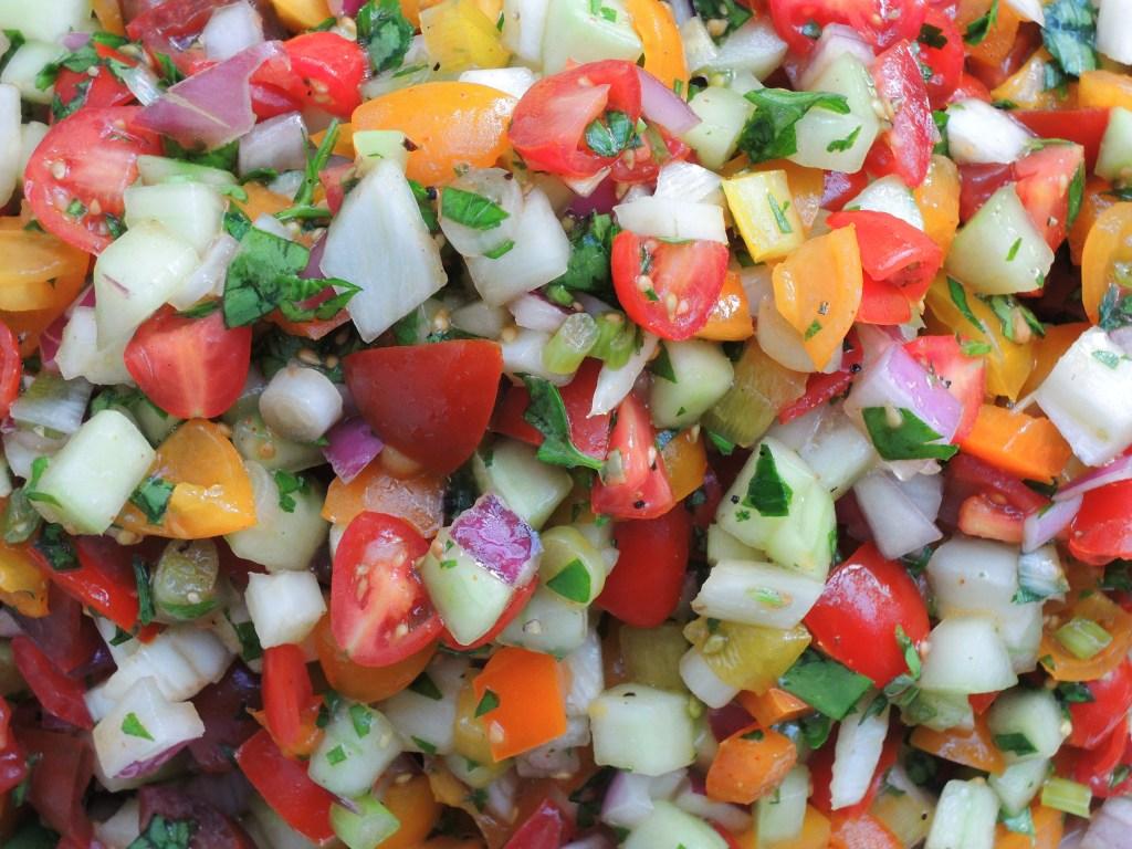 Salads, chopped, Mediterranean chopped salad 2
