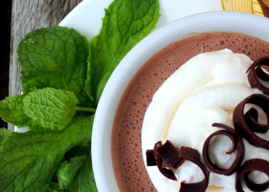 Desserts, gelatins, chocolate rum mousse 2