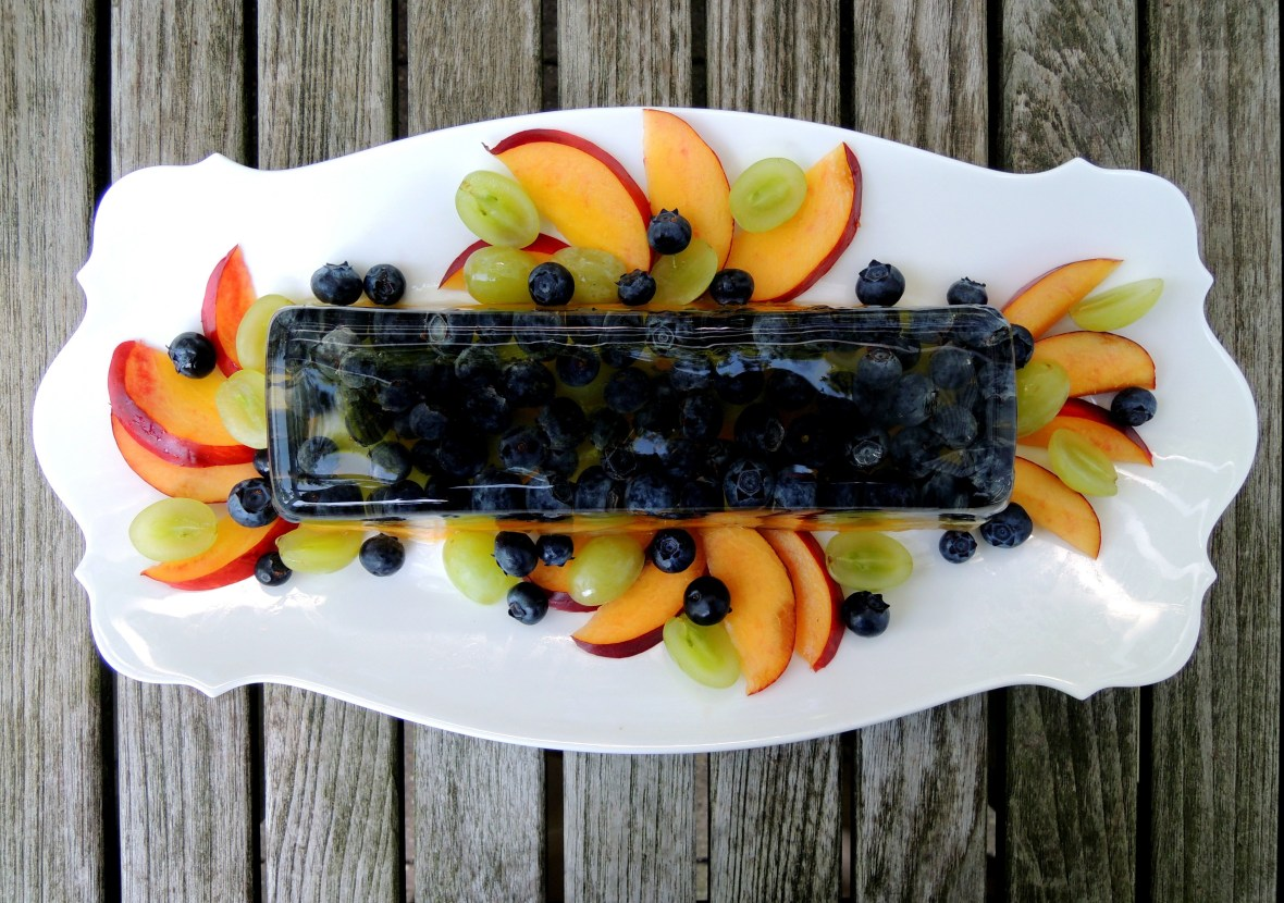 Desserts, gelatins, prosecco and summer fruit terrine 1