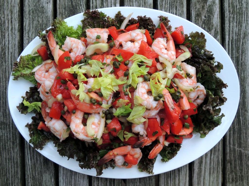 Salads, shrimp, insalata di gamberi alla Sarda 1