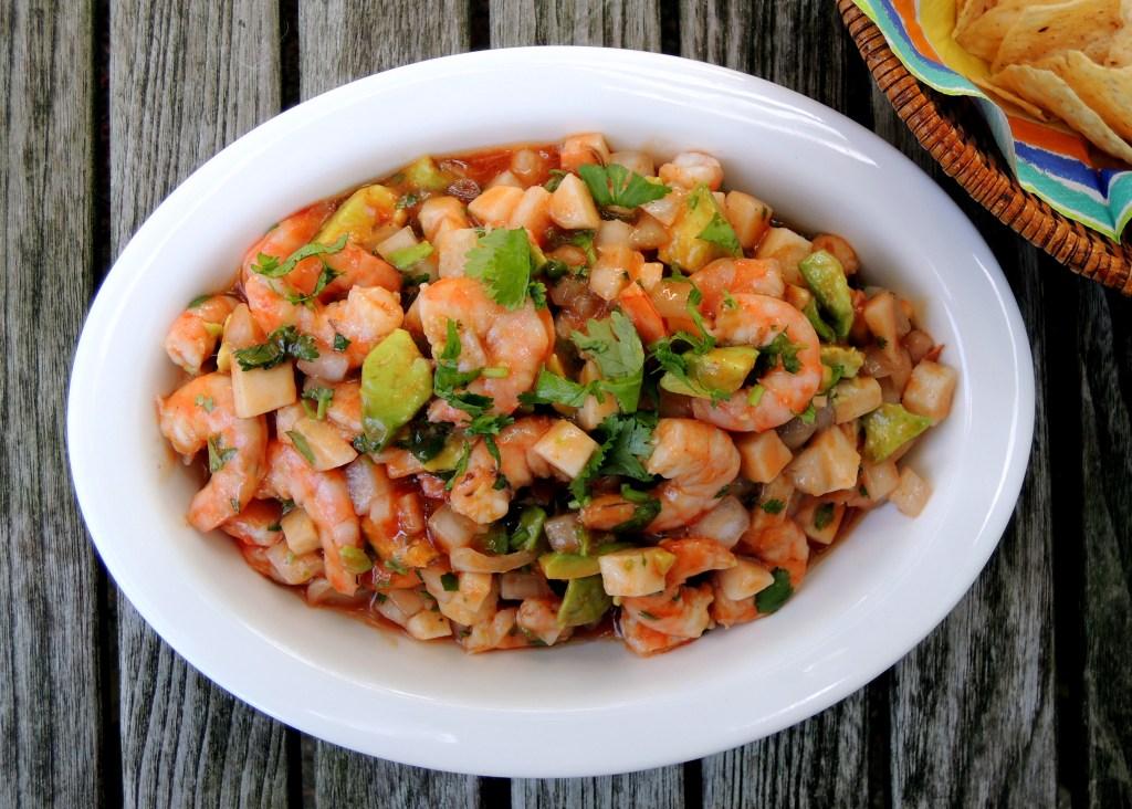 Appetizers, ceviche de camaron (with shrimp) 1
