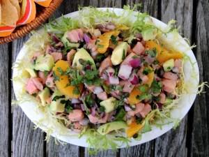 Appetizers, ceviche de salmon a la naranja 1