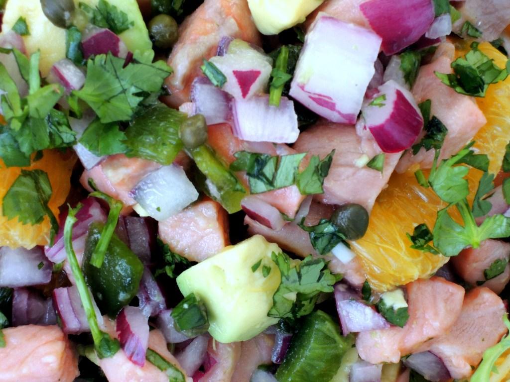Appetizers, ceviche de salmon a la naranja 3