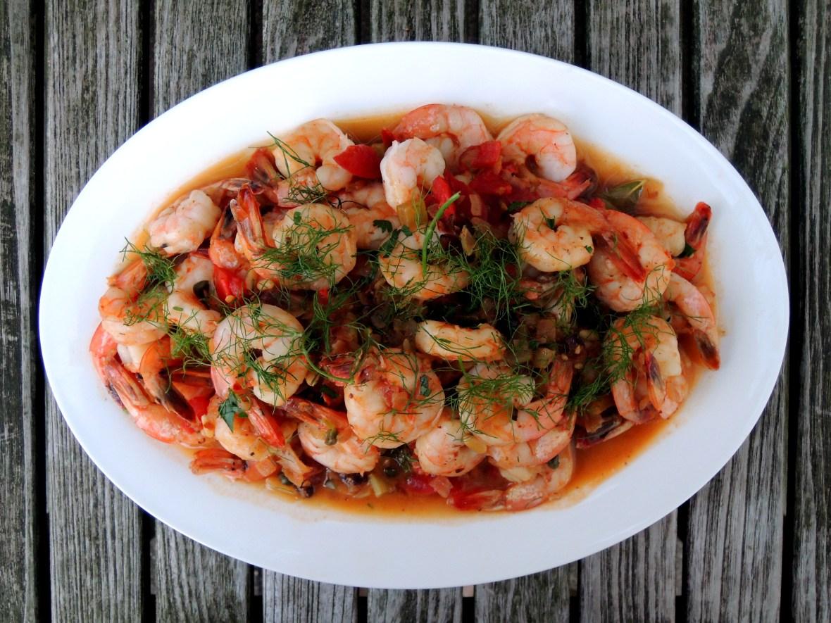 Shrimp, braised, Mario's shrimp marsala 1