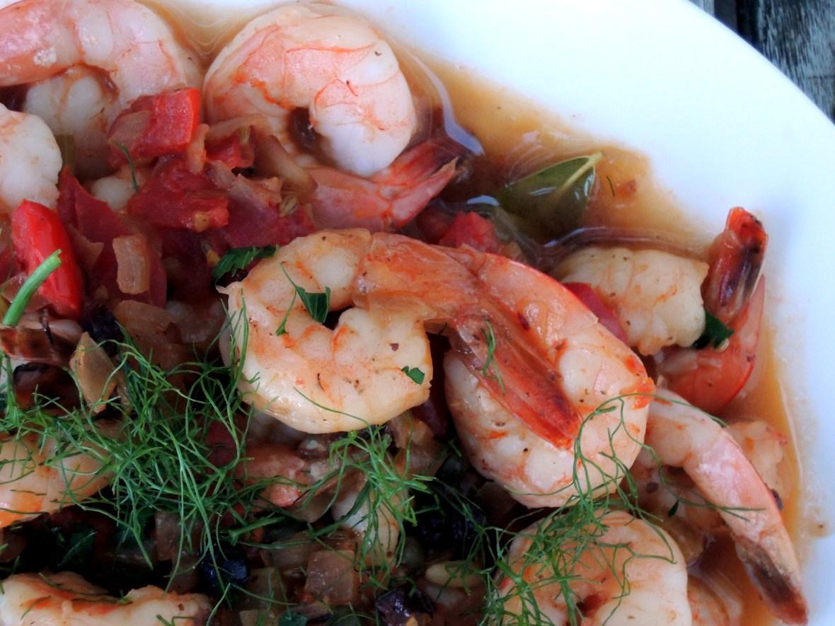 Shrimp, braised, Mario's shrimp marsala 2