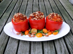 Vegetables, bell peppers stuffed with chorizo, Manchego cheese and smoked paprika 1
