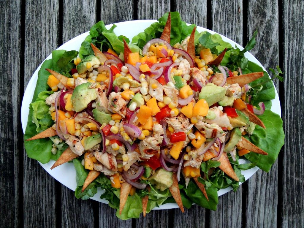 Salads, chicken, Rosa Mexicano street salad 1