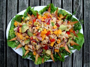 Salads, chicken, Rosa Mexicano street salad 1