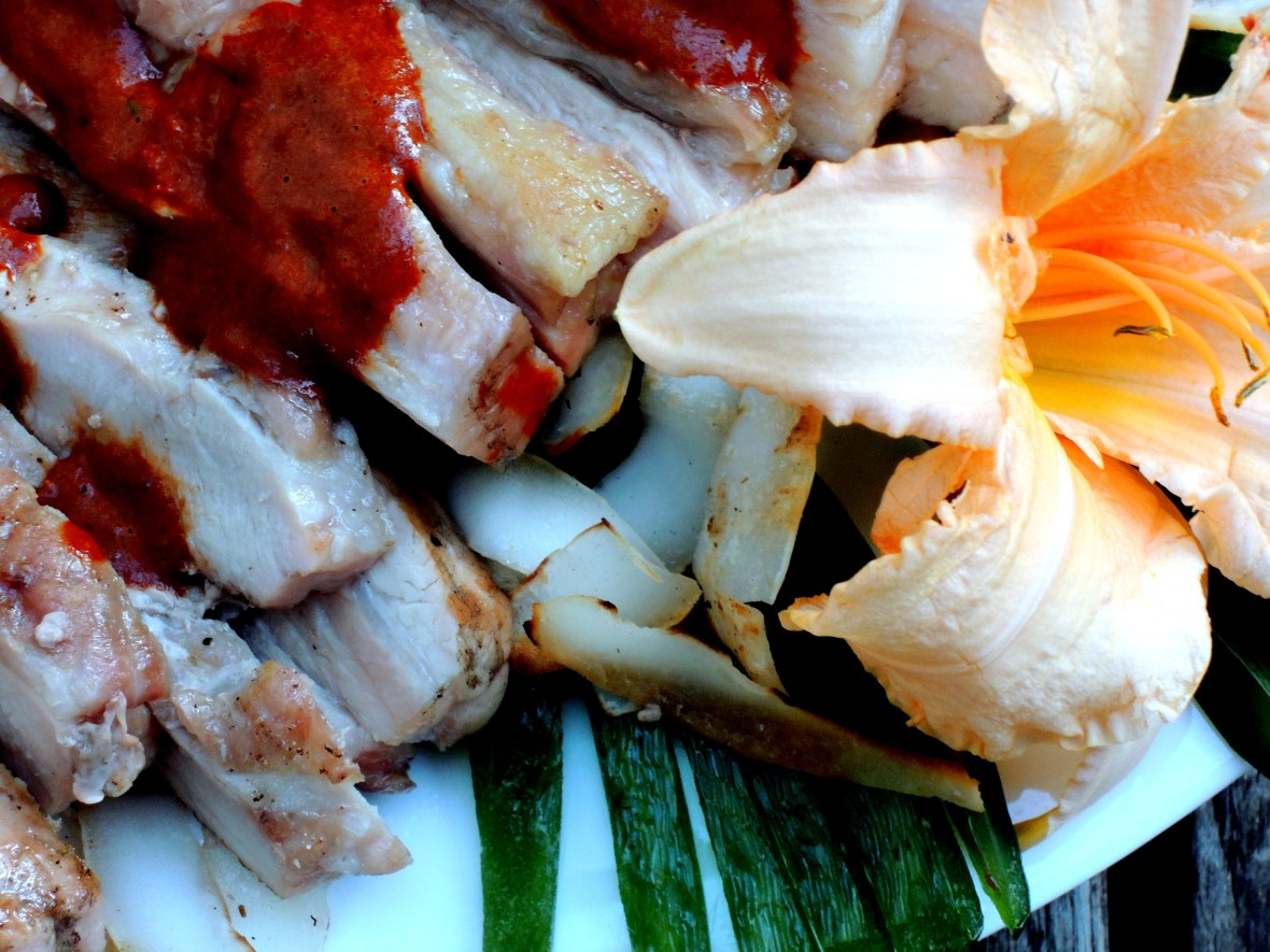 Pork, grilled butterflied pork loin with Indonesian chile coconut sauce 3