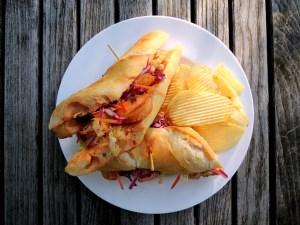 Sandwiches, po'boys, fried shrimp po'boys 1