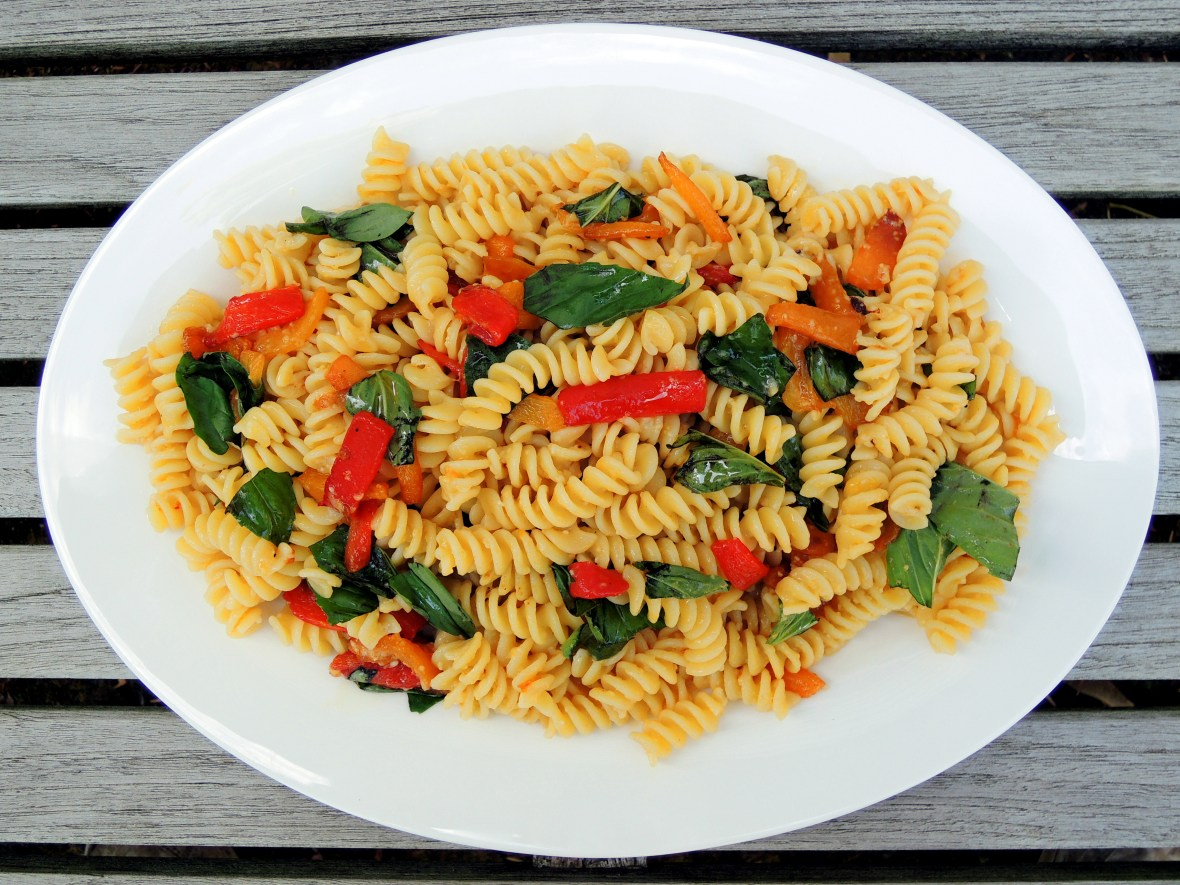 pasta-fusilli-with-red-and-yellow-peppers-1