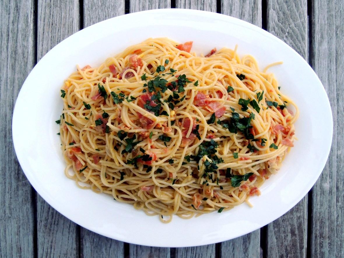Pasta, spaghetti alla carbonara 1