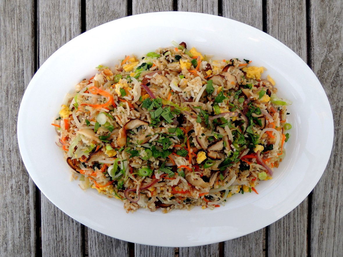 Rice, fried rice, vegetable fried rice 1