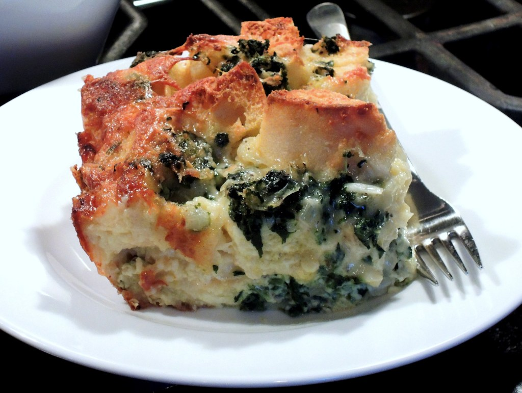 Eggs, strata with gruyere and spinach 2
