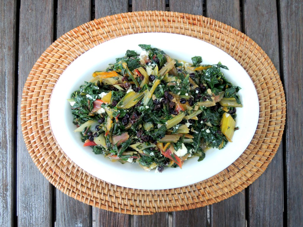 Vegetables, Swiss chard sauteed with currants and feta 1