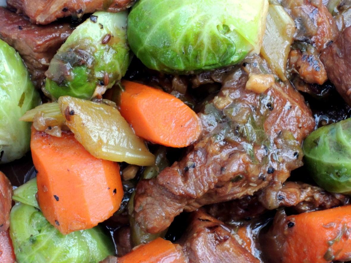 Pork, stews, Irish pork stew with Brussels sprouts 2
